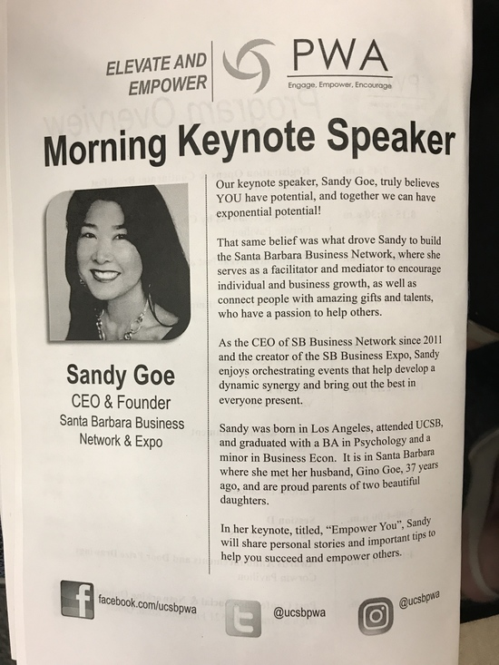 Elevate & Empower Keynote by Sandy Goe at 21st Annual Professional Development Conference