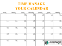 Time Manage Your Calendar