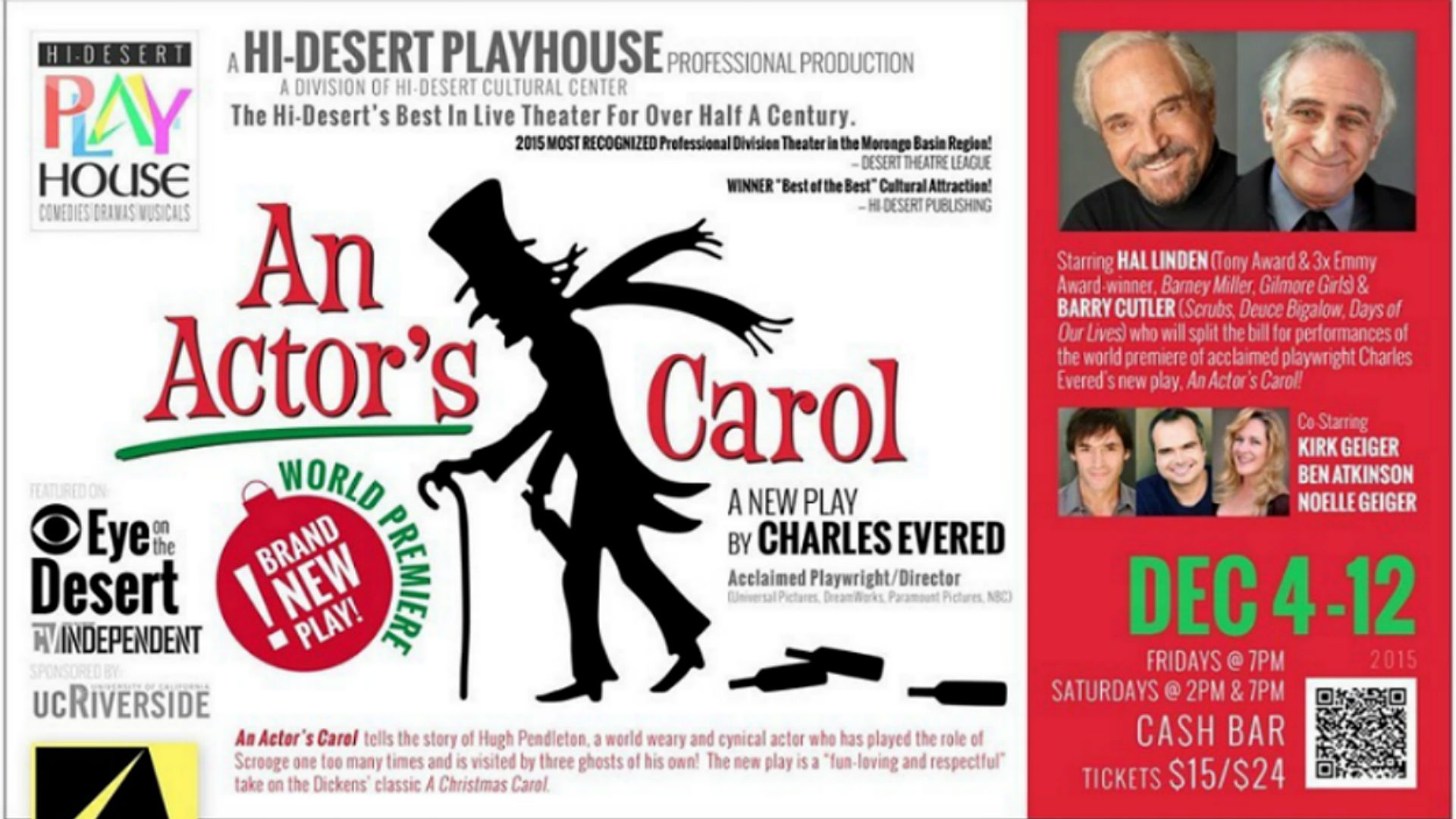 An Actors Carol World Premiere Stage Production