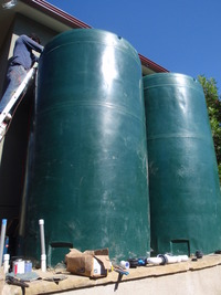Tall Rainwater Tanks & Plumbing