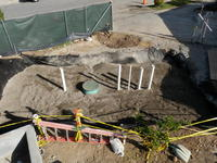 Below Ground Cistern Installed