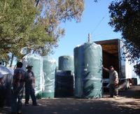 Unloading Rainwater Tanks