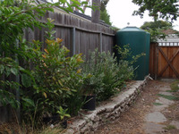 Side Yard Rainwater Tanks