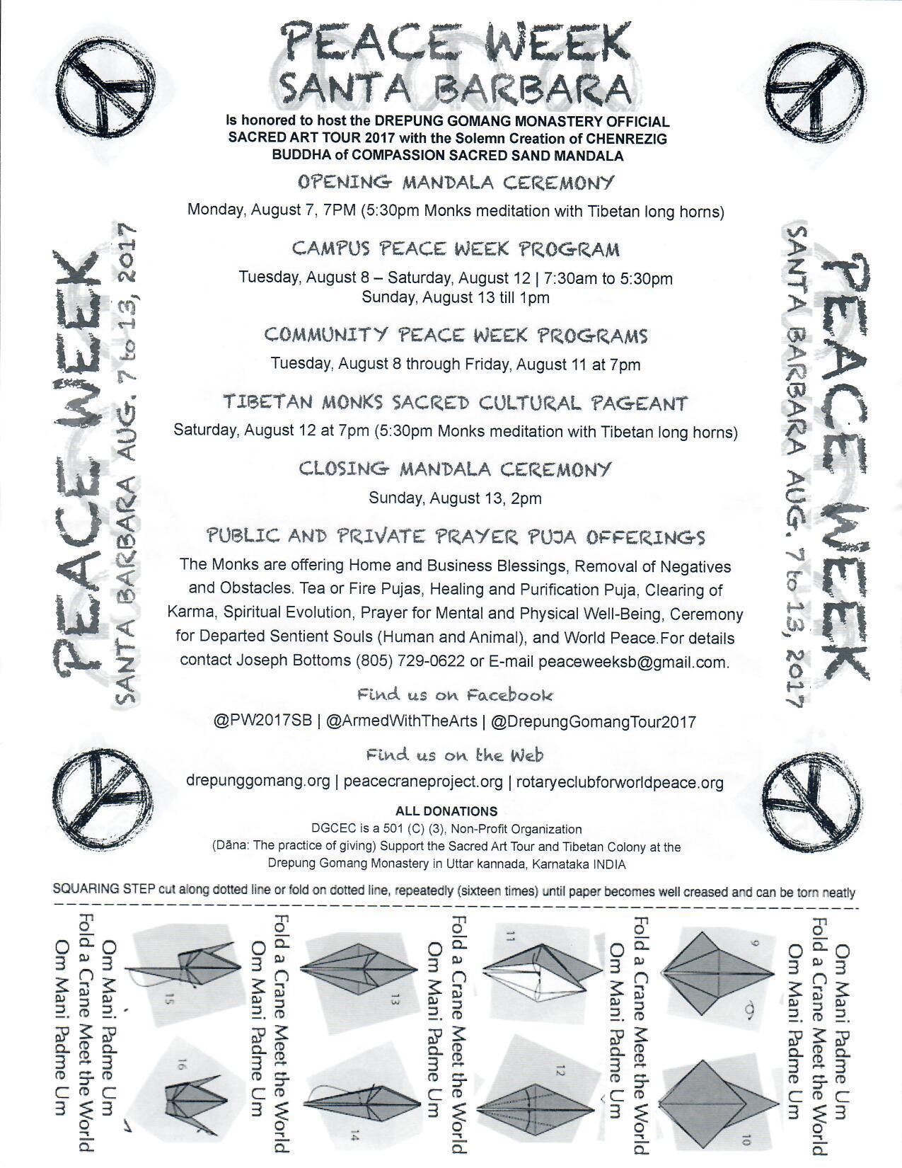 Peace Week Santa Barbara