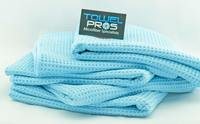 Microfiber Waffle Weave Drying Towels Blue