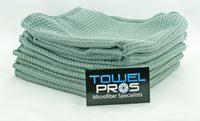 Microfiber Waffle Weave Drying Towels 16x24 Gray