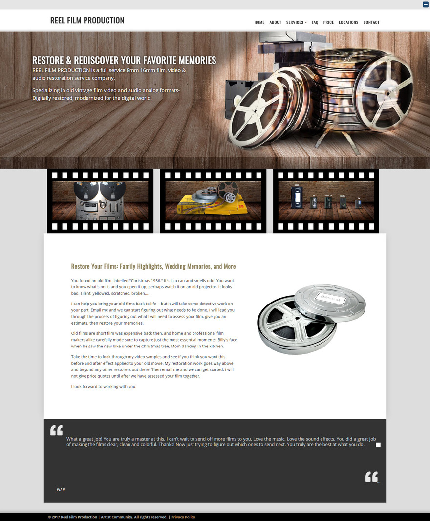 Reel Film Production - Audio and Video Transfer Service