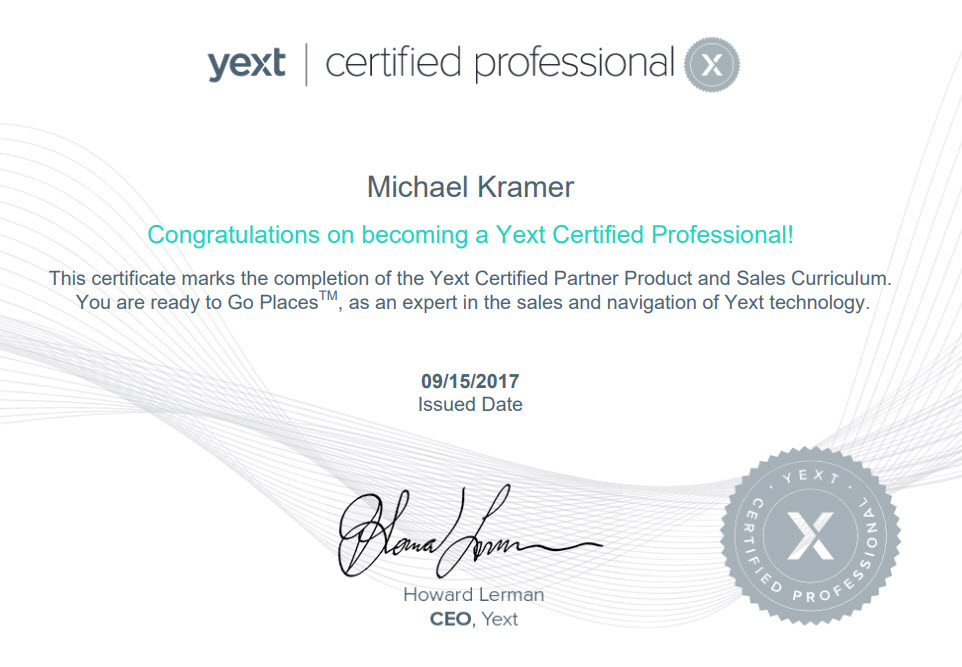 Yext Certified Partner - Ameravant Web Design