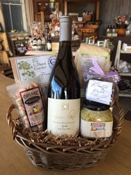 Wine and Picnic Gift Basket Courtesy of Stonecraft Surfaces, Inc