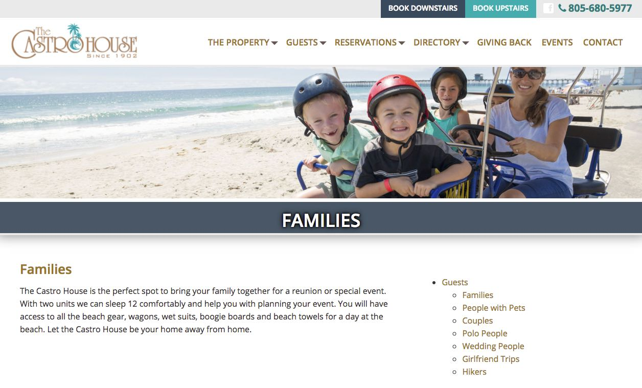 The Castro House Carpinteria Vacation Rental Families
