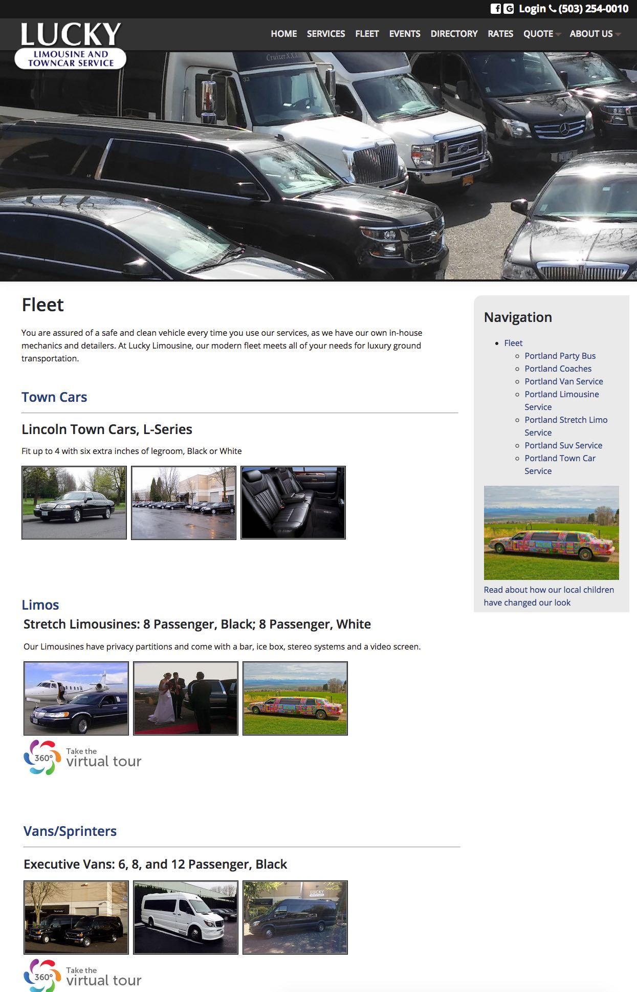 Lucky Limousine and Town Car Service Fleet