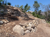 Rock Wall Hillside Terrace