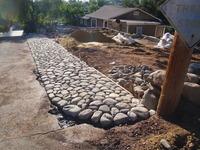 Sandstone & Cobble Driveway