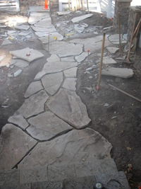 Flagstone Pathway In-Progress