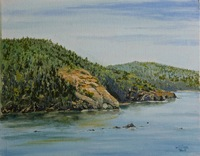 """Sharpe Cove""  11"" X 14"" oil, $300.00"
