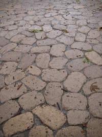 Permeable Cobblestone Paver Driveway