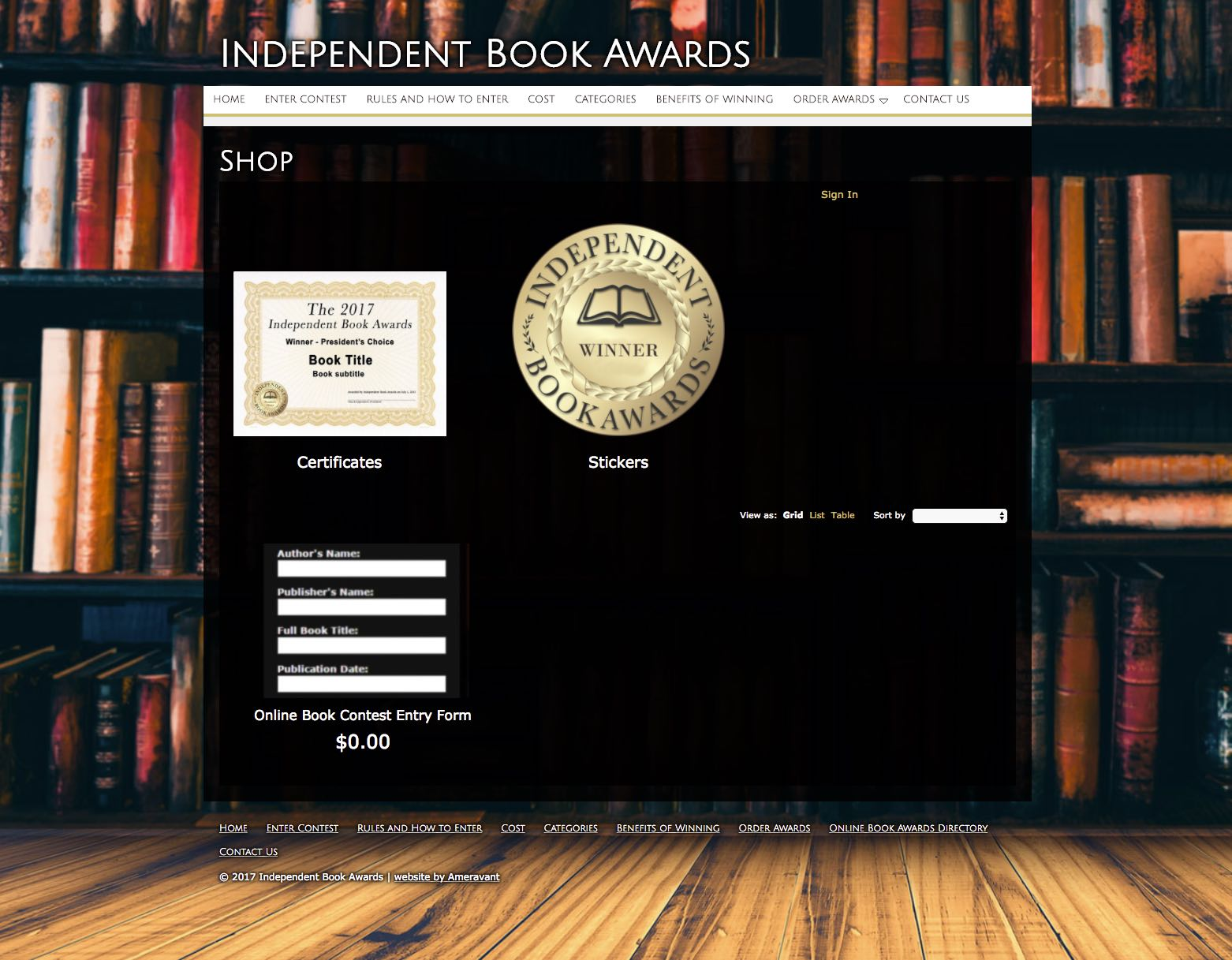 How to Enter Independent Book Awards Shop