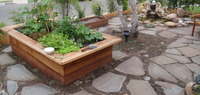 Raised Beds & Flagstone Path