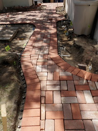 Recycled Brick Patio & Paths