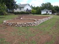 Raised Stone Veggie Beds
