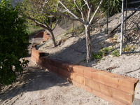 Slope Retention Wall 1