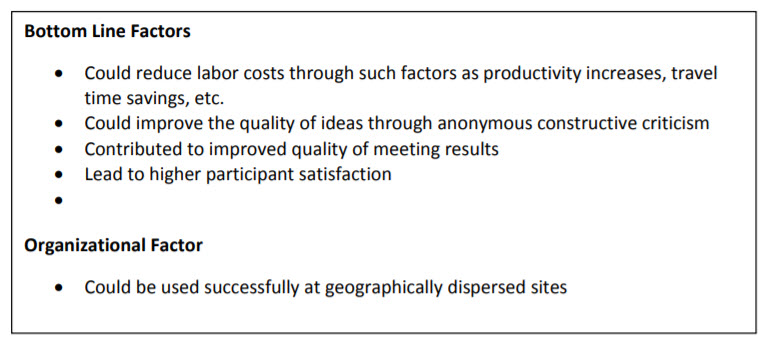Figure 2: Bottom Line and Organizational Factors