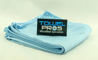 Our Wonderful Blue Microfiber Glass Towels