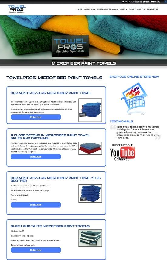 TowelPros, Microfiber Towel Specialists Paint
