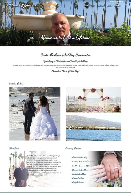 Ceremonies By Steve -- Santa Barbara Wedding Officiant Home