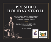 Presidio Wineries Holiday Stroll - Food Bank Benefit