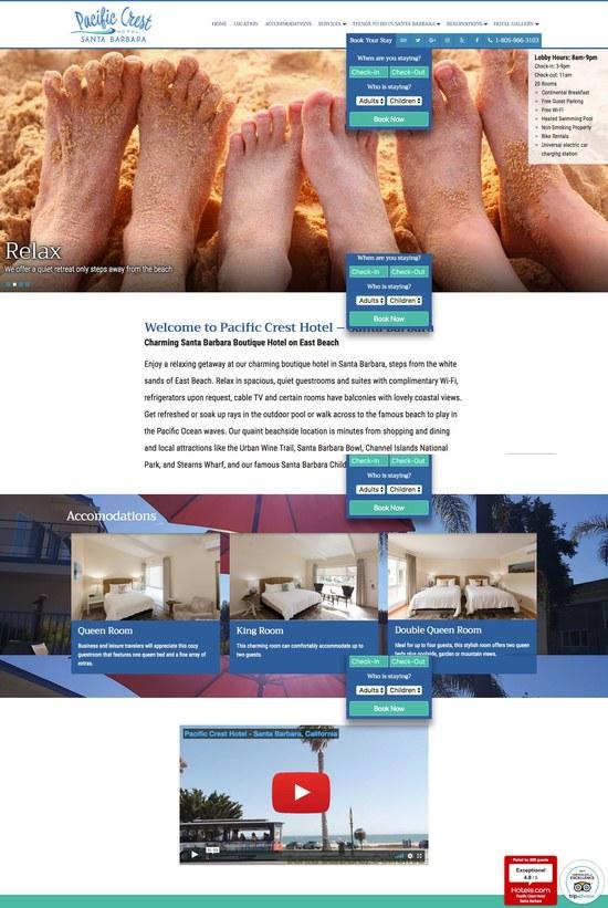 Pacific Crest Hotel Santa Barbara Home