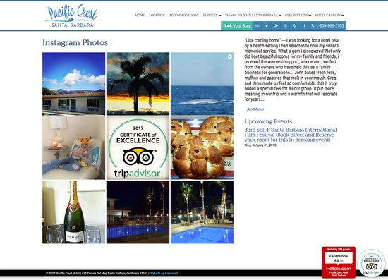 Pacific Crest Hotel Santa Barbara Instagram