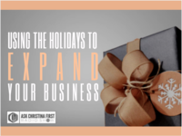 Using the Holidays to Expand your Business