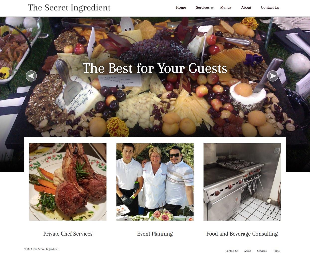 The Secret Ingredient Santa Barbara Caterers Home