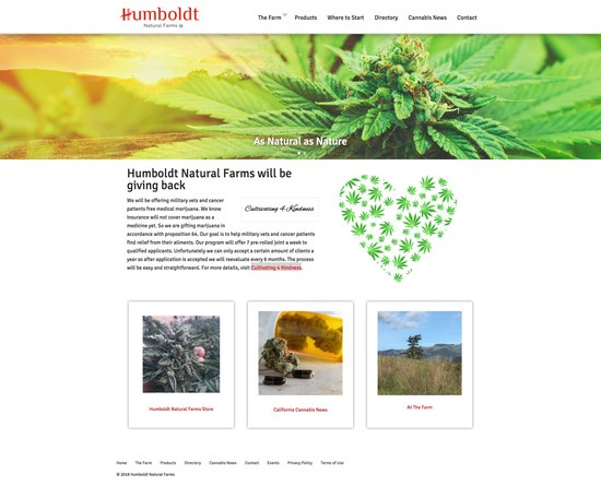 Humboldt Natural Farms Medical Marijuana Cannabis Growers Home
