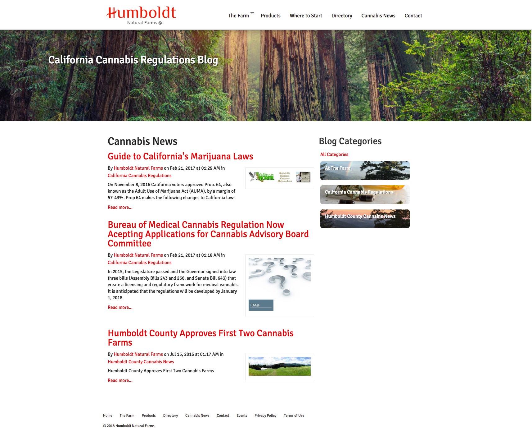 Humboldt Natural Farms Medical Marijuana Cannabis Growers Blog