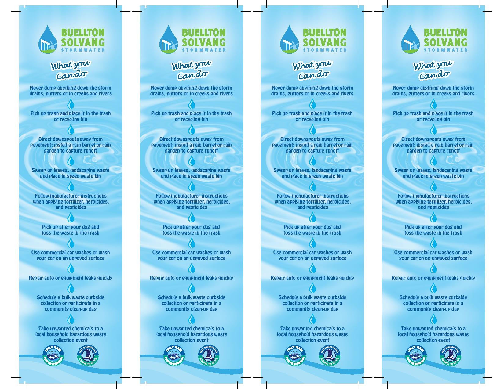 Stormwater Bookmarks for the City of Solvang-2