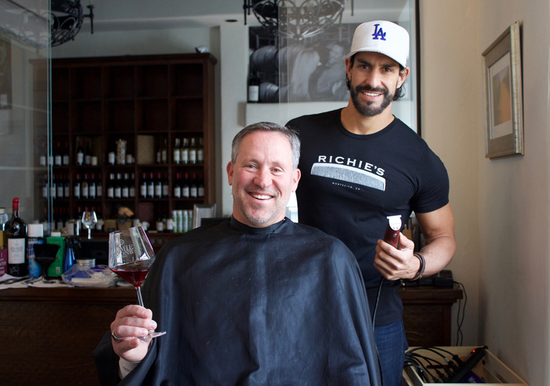 A Different Kind of Buzz: Santa Barbara Wine Tasting Room Becomes Pop-Up Location for Displaced Montecito Barber Shop