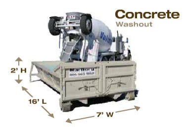 8yd Concrete Washout Container