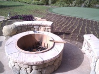 Courtyard with Stone Firepit