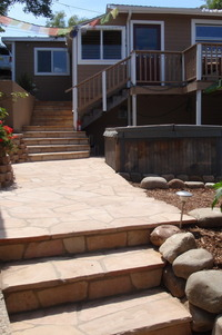 Rustic Flagstone Stairs