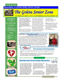 Goleta Valley Community Center Newsletter 1st Quarter 2018