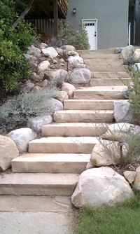 Thick Flagstone Stairs