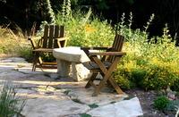Permeable Patio & Native Plants