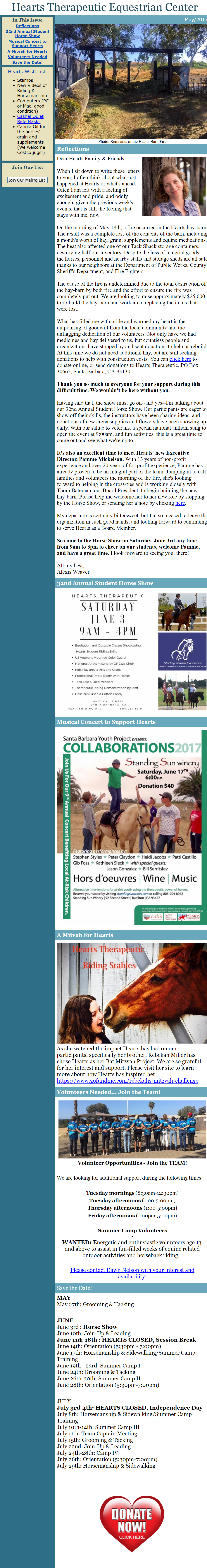 The Hoofbeat Newsletter - May 2017