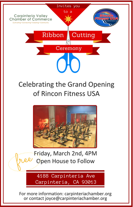 Ribbon Cutting Ceremony! Carpinteria Fitness Gym