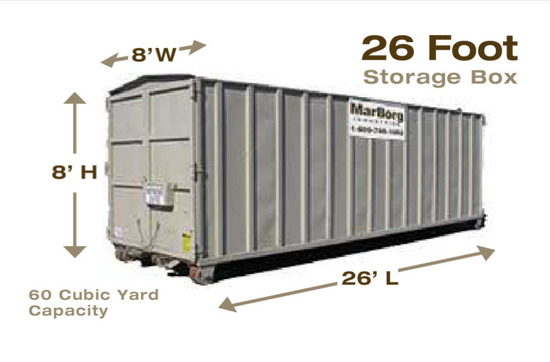 26 Foot Storage Box MarBorg Industries Santa Barbara