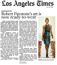 Robert Firestone's Art is Now Ready-to-Wear