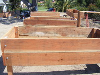 Wooden Raised Planting Bed Construction