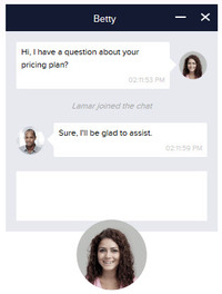 Live Chat Message Window